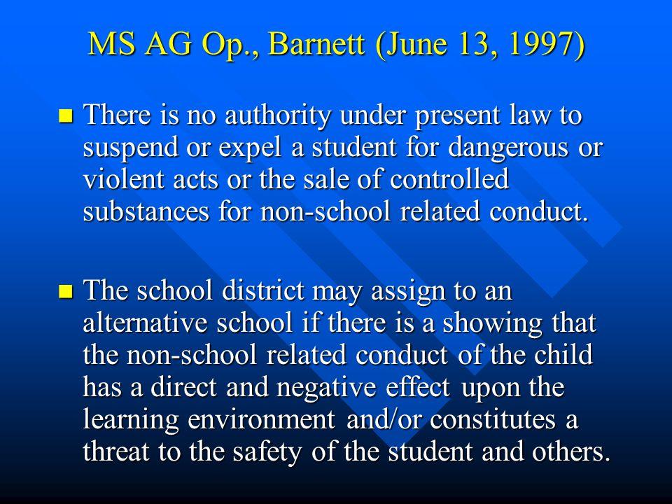 Pascagoula Municipal School District v. T.H., III, a minor, 681 So.2d 110 (Miss.