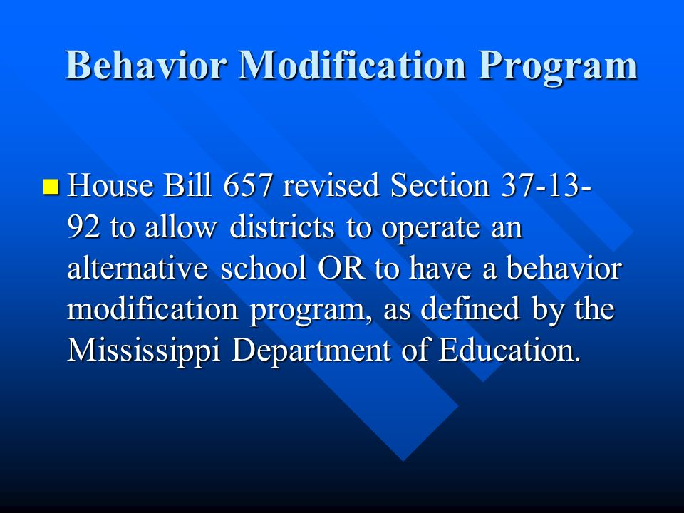 LEGISLATIVE ACTIONS §37-13-92 Alternative School Program for Compulsory School Age Students.