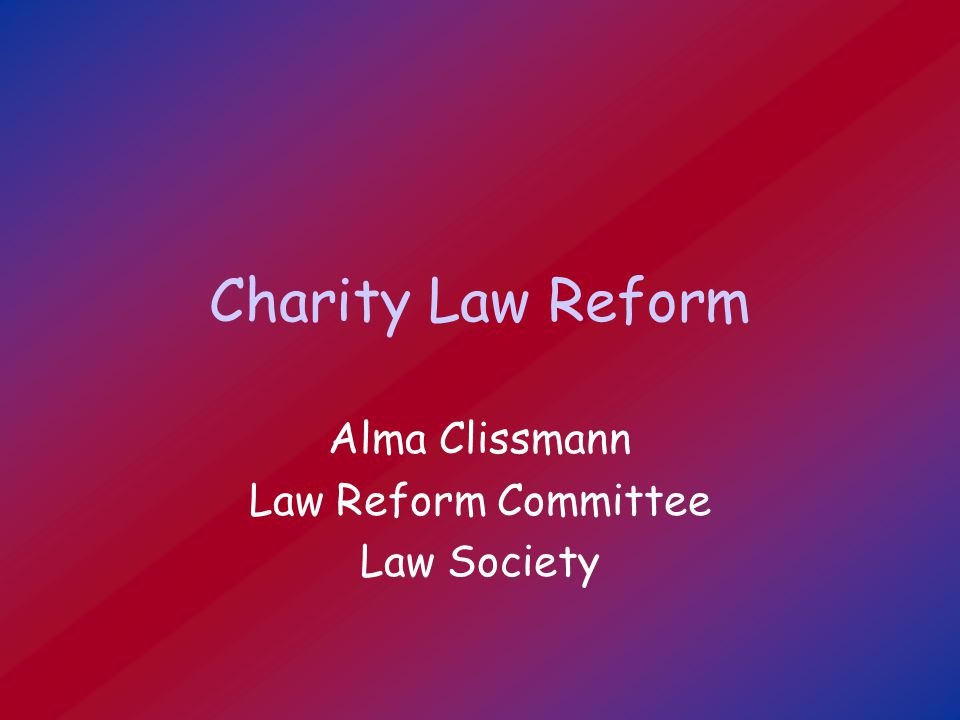 Proposals on definition (2) Advancement of health [new] Advancement of the natural environment [new] Other purposes beneficial to the community (including human rights and animal rights) Public benefit, including a reference to altruism, should apply consistently across the heads of charity