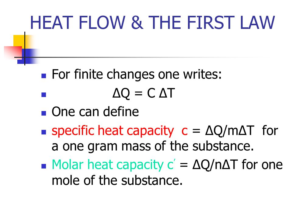 HEAT FLOW IN MATERIALS Let Electrical Conductivity σ = 1/ρ The ratio of the thermal conductivity and the electrical conductivity and the Kelvin Temperature is the Widermann- Franz –LorentzRatio σ/κT = 3 (R/F) 2 = 2.23 x 10 -8 (V/K) 2 Approximately constant for metals.