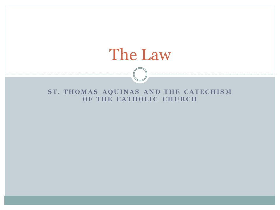 The treatise on the Evangelical Law The correspondence between St.