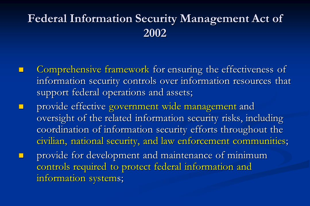 Information Security Laws Applicable to public, private and military sectors Applicable to public, private and military sectors Information security m