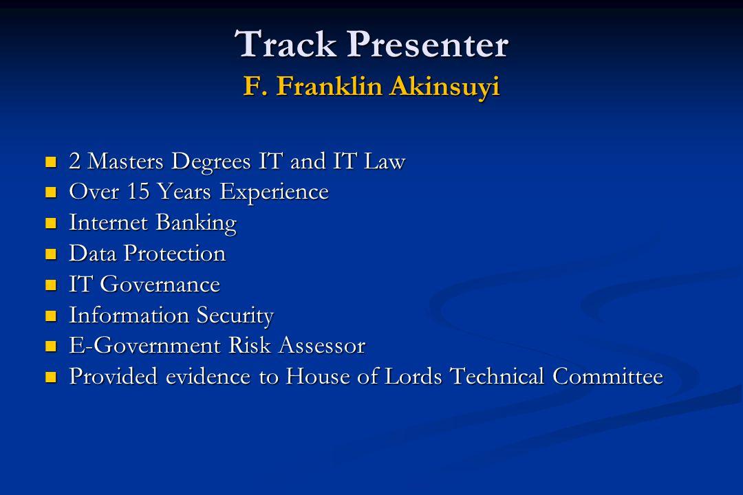 Track Presenter F.