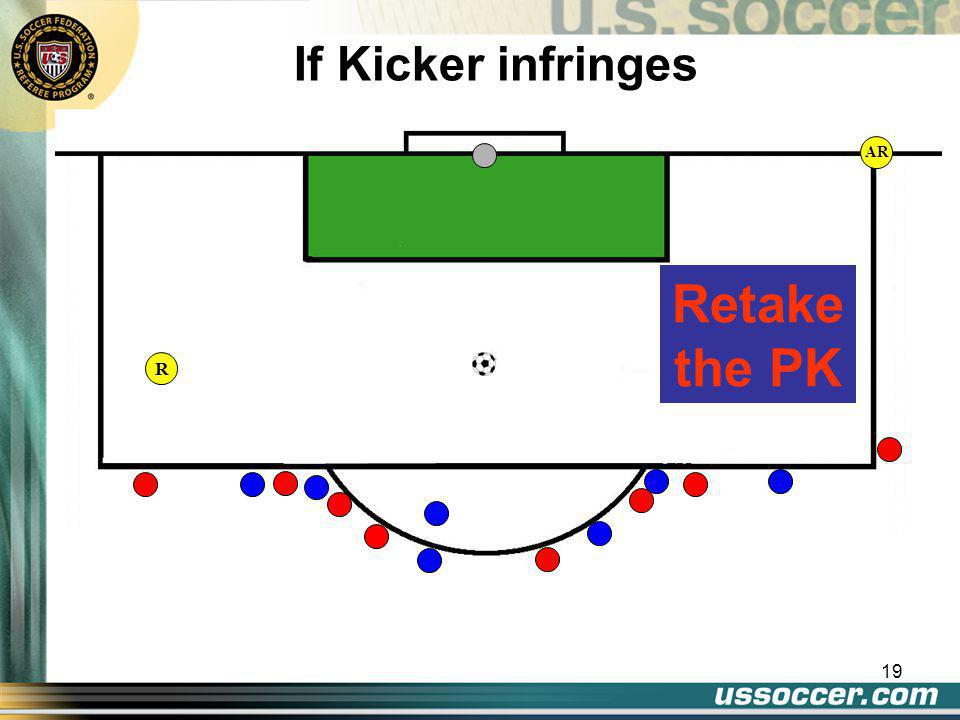19 AR If Kicker infringes Retake the PK R