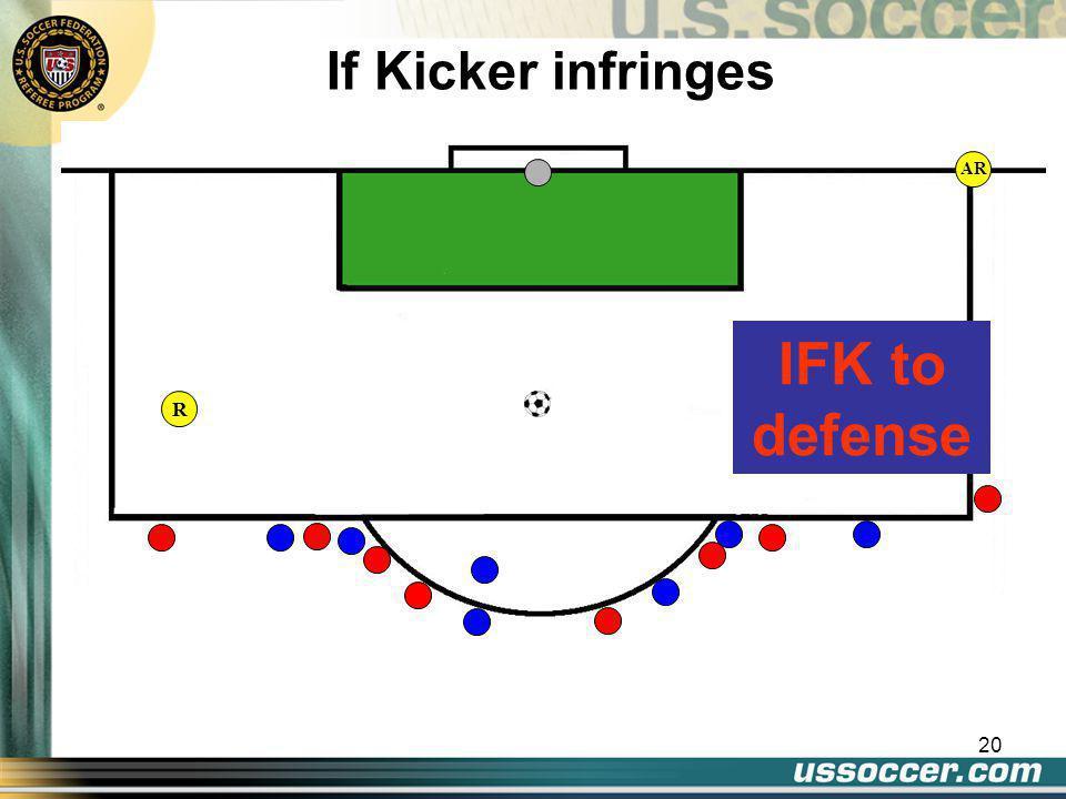 20 AR If Kicker infringes IFK to defense R