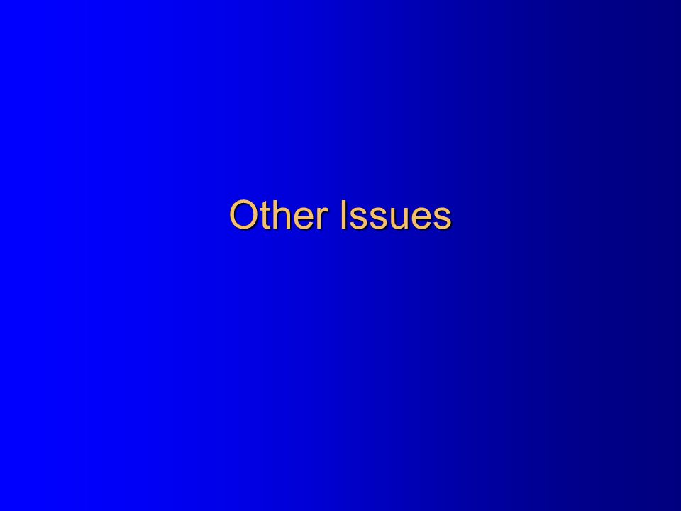 Other Issues