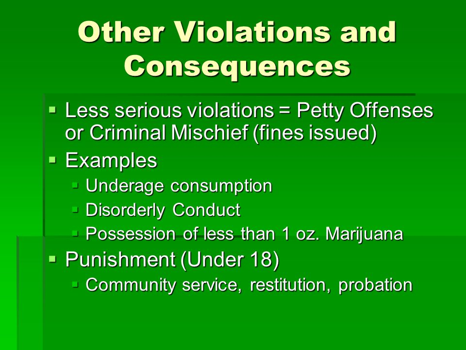 Types of Criminal Law Felonies: serious crimes punishable by imprisonment for a year or more Felonies: serious crimes punishable by imprisonment for a year or more