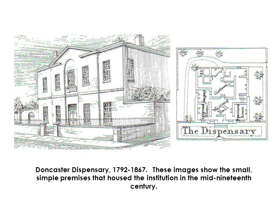 Doncaster Dispensary, 1792-1867.