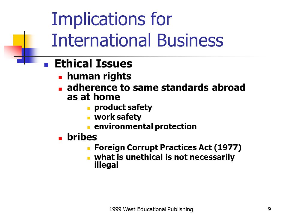 1999 West Educational Publishing20 Legal and Political Issues in Technology Transfer Agreements Regulated by some governments generally in Asia, Latin America, and the Middle East terms restricted to benefit the developing country