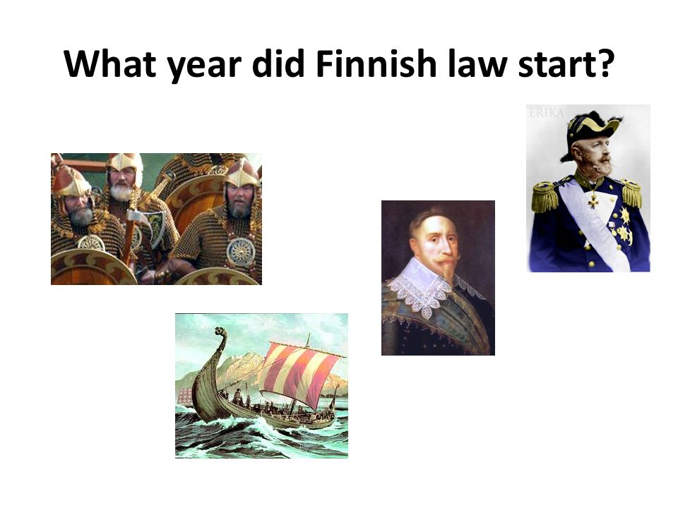 What year did Finnish law start