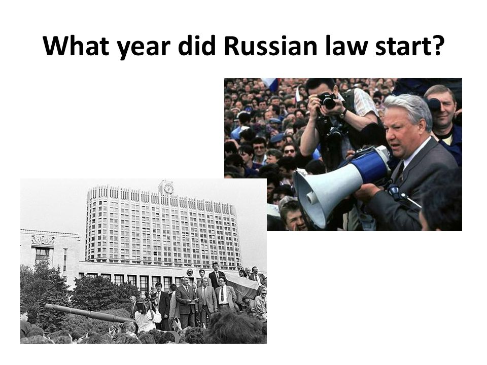 What year did Russian law start?
