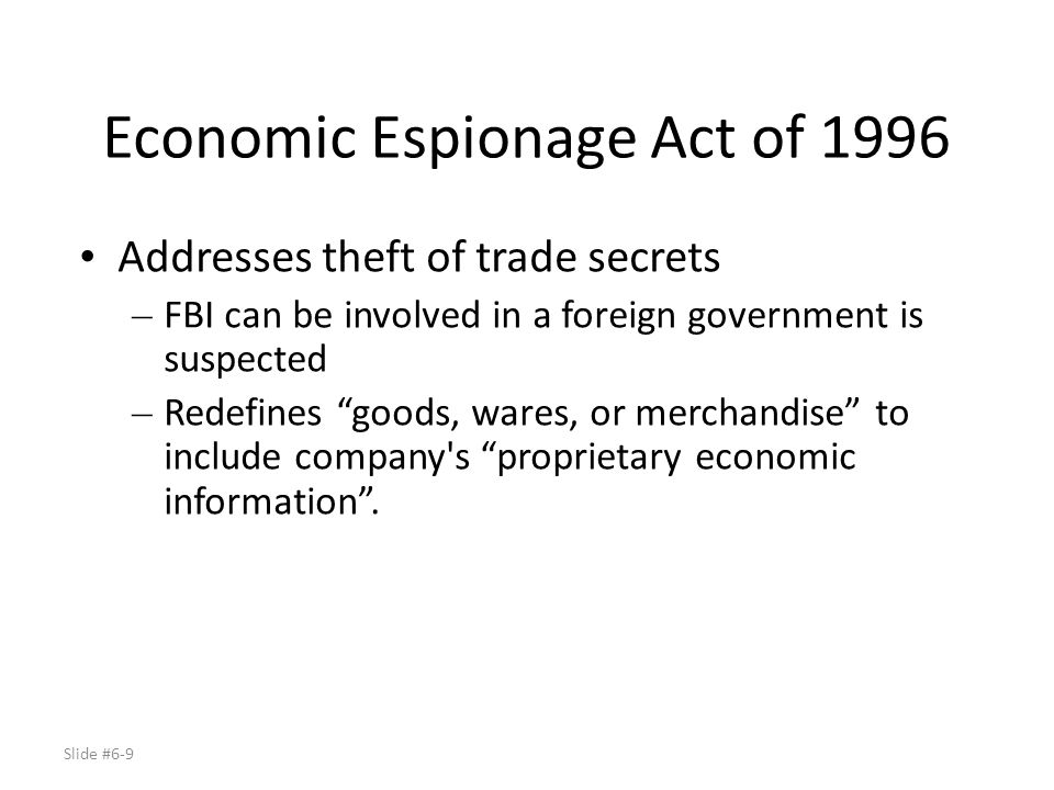 Slide #6-30 Sarbanes-Oxley Act of 2002 (SOX) Response to Enron – Requires companies to produce annual reports on internal financial controls – Directed by SEC Cost of compliance – Heavy auditing requirements – Lack of clarity early on concerned many companies – Some companies de-listed rather than comply