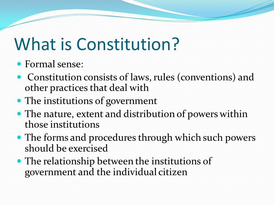 What is Constitution.