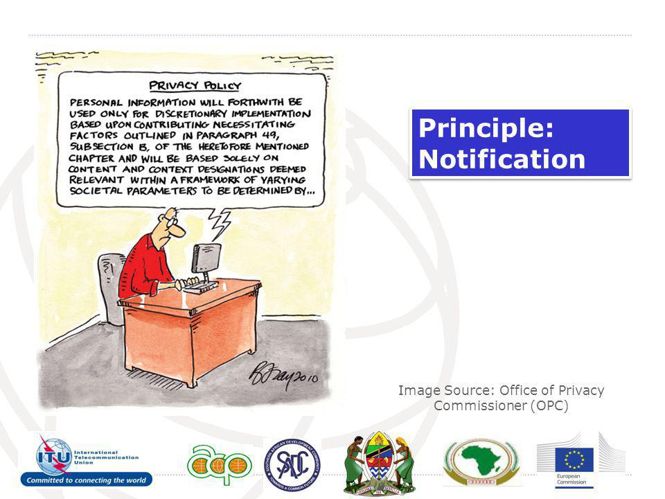 Image Source: Office of Privacy Commissioner (OPC) Principle: Notification Principle: Notification