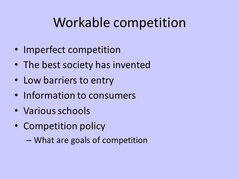 Against competition Does it always work.Does it work in all sectors.