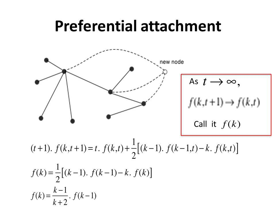 Preferential attachment As Call it