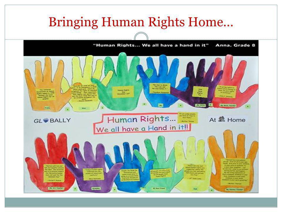 Bringing Human Rights Home…