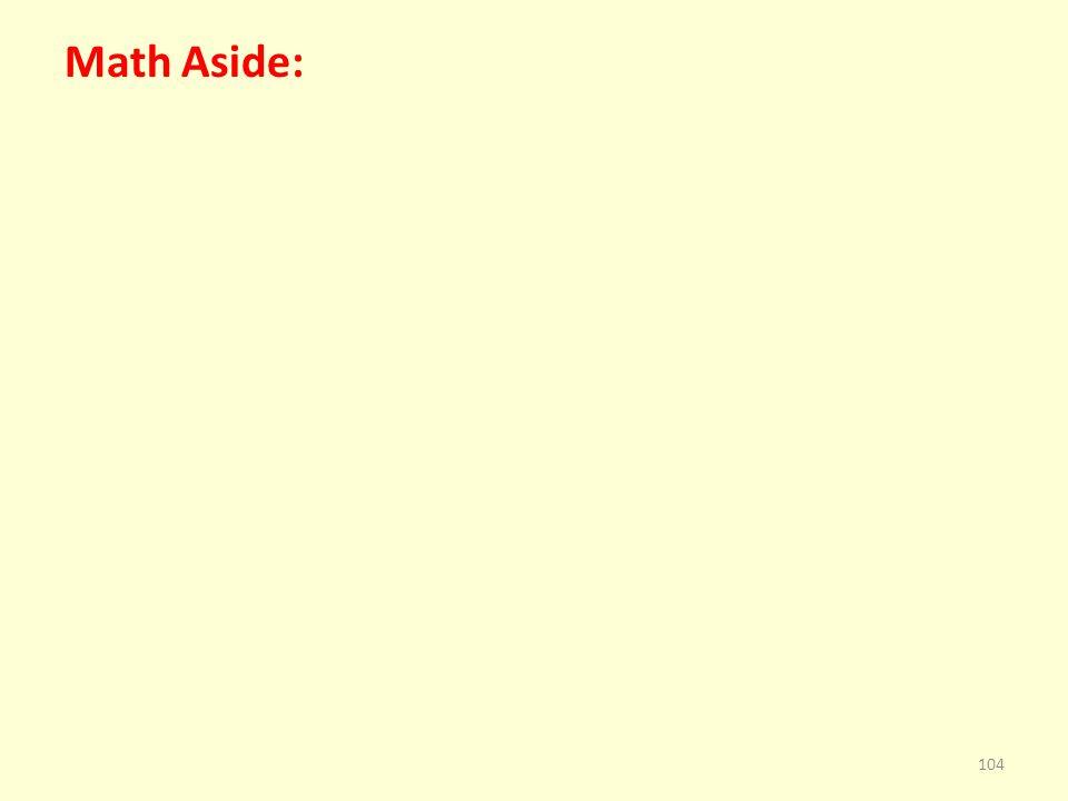 Math Aside: 104
