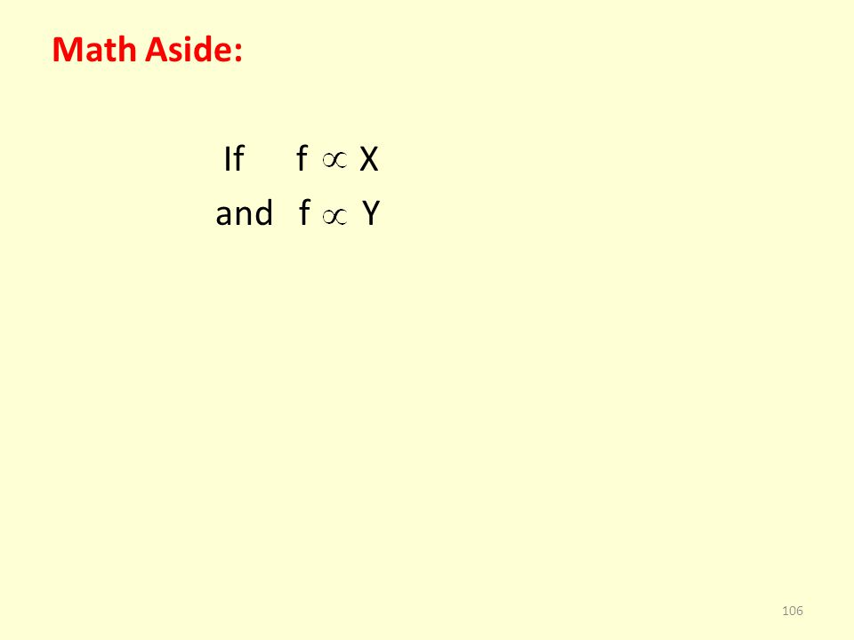 Math Aside: If f X and f Y 106