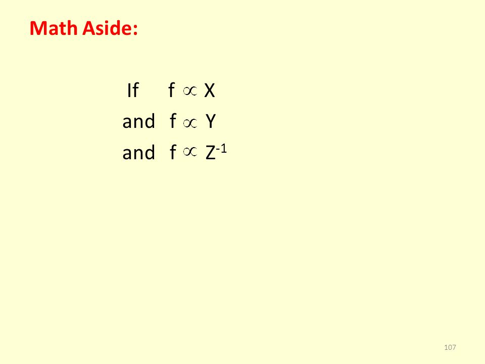 Math Aside: If f X and f Y and f Z -1 107
