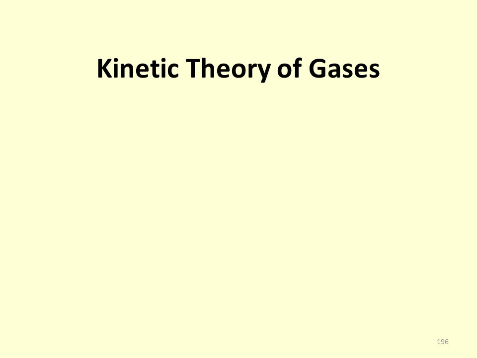 Kinetic Theory of Gases 196