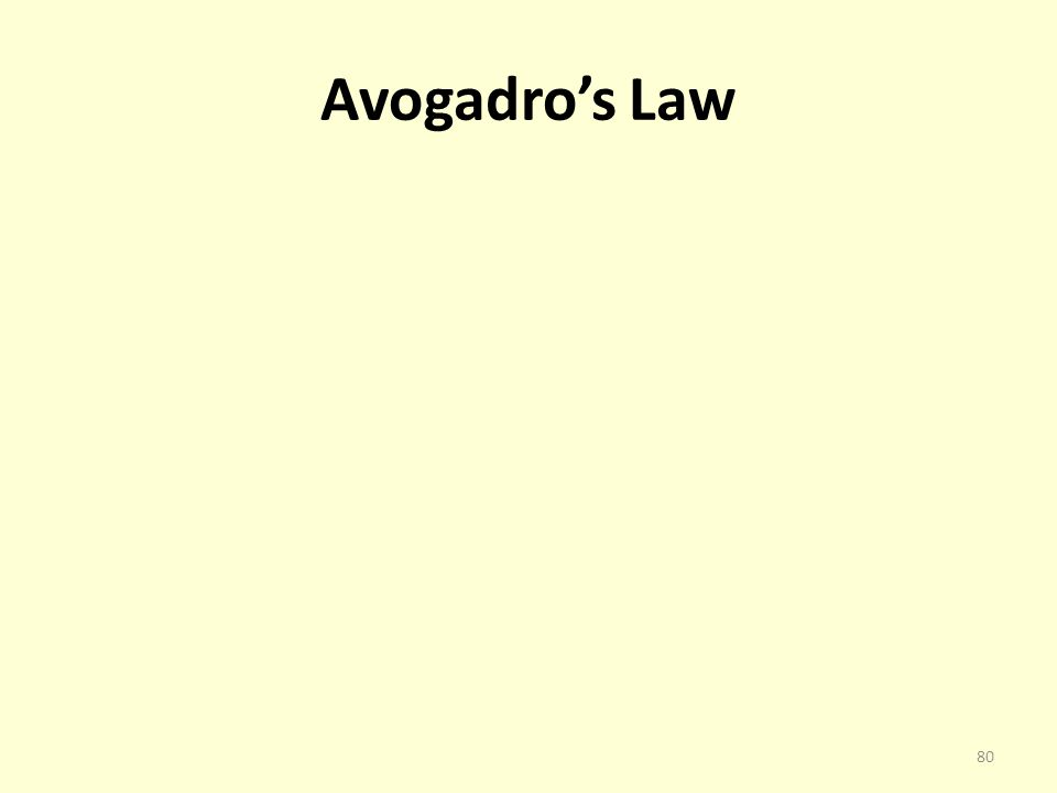 Avogadros Law 80