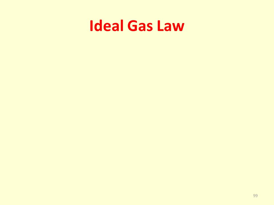 Ideal Gas Law 99
