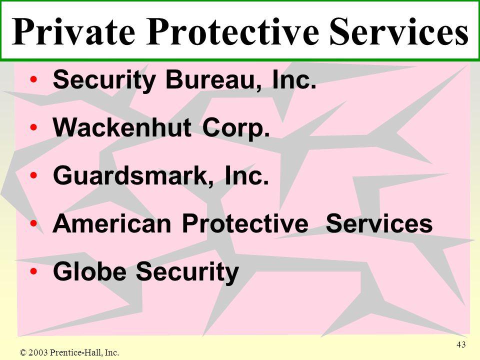 © 2003 Prentice-Hall, Inc. 43 Security Bureau, Inc.
