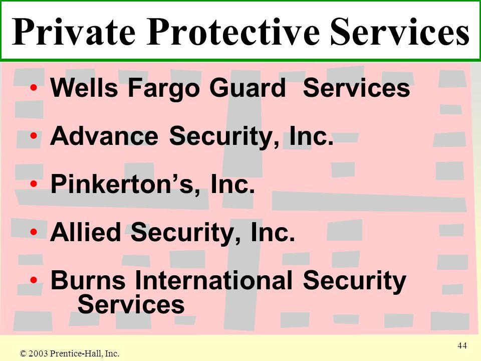 © 2003 Prentice-Hall, Inc. 44 Wells Fargo Guard Services Advance Security, Inc.