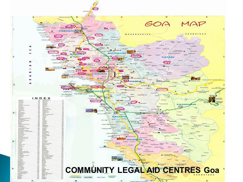 COMMUNITY LEGAL AID CENTRES Goa