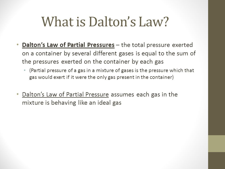 What is Daltons Law.