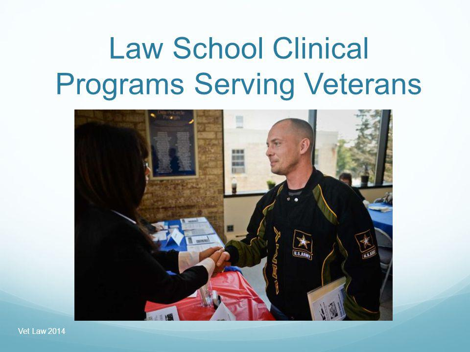 University of San Diego Law School Model: Focus on Particular Legal Need: Education/GI Bill Consumer Protection The Veterans Clinic provides free legal services to veterans struggling to resolve disputes with for-profit education companies over the use of GI Bill funds and related loans.