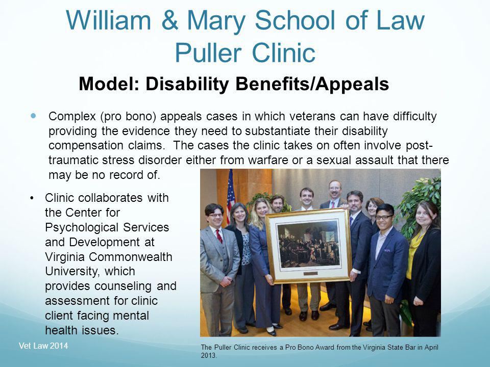 John Marshall Law Situation: In 2006, three John Marshall law students recognized that many veterans were having trouble navigating the Veterans Benefits Administration claims process.
