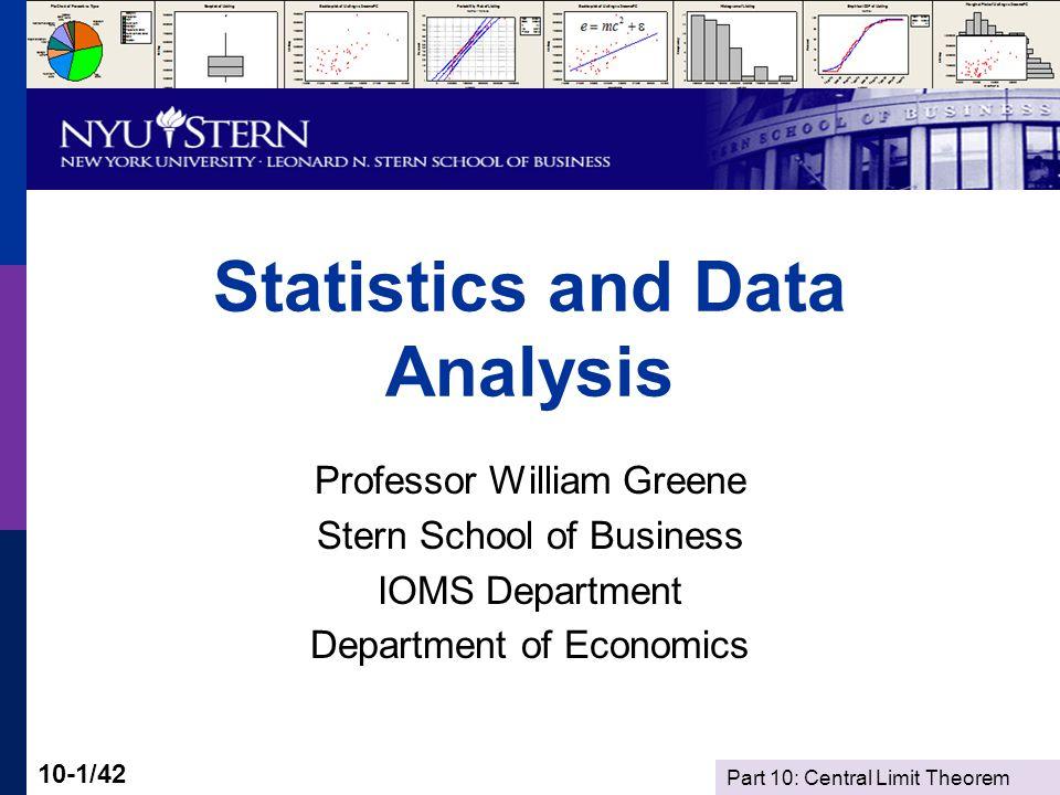Part 10: Central Limit Theorem 10-42/42 Summary Random Sampling Statistics Sampling Distributions Law of Large Numbers Central Limit Theorem