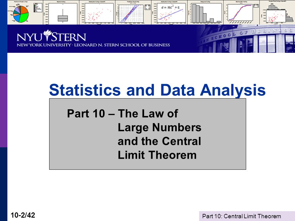 Part 10: Central Limit Theorem 10-33/42 Implication of the LLN Now, the problem of a biased sample: As the sample size grows, a biased sample produces a better and better estimator of the wrong quantity.