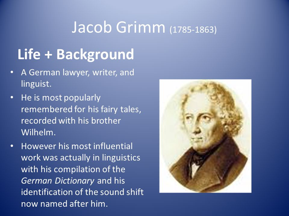 Grimms Work and Career Education He completed under studies at public schools in Kassel Went to the University of Marburg where he studied law Upon attending the lectures of Savigny, Grimm was introduced to the literary sources and historical texts of the lectures.