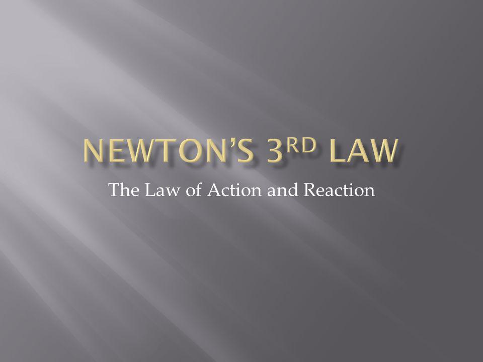 The Law of Action and Reaction
