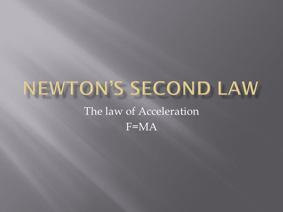The law of Acceleration F=MA