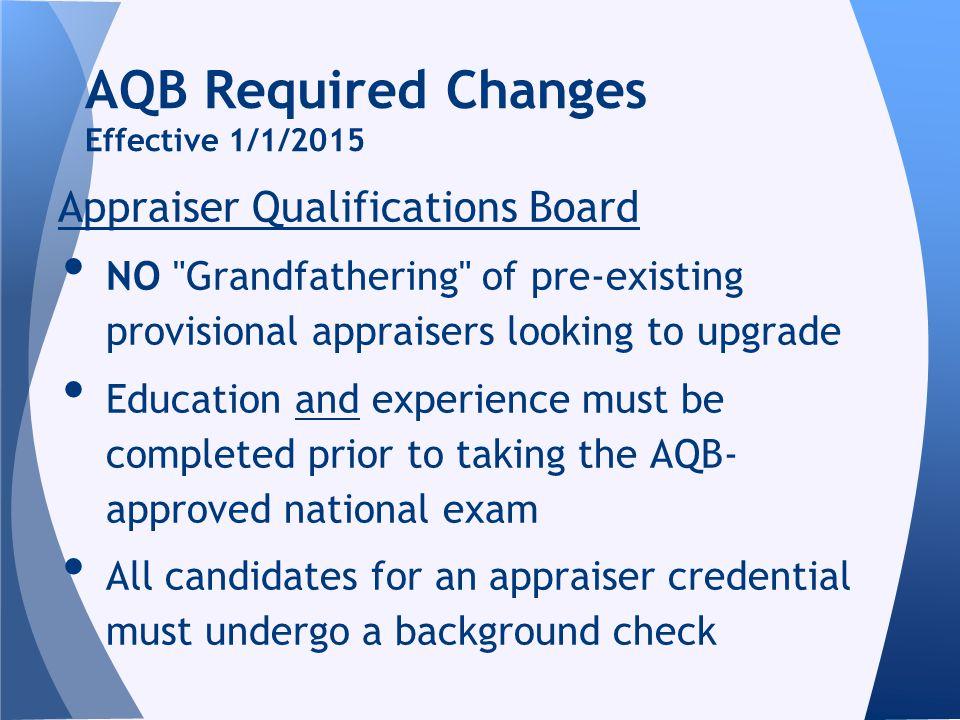 Appraiser Qualifications Board NO