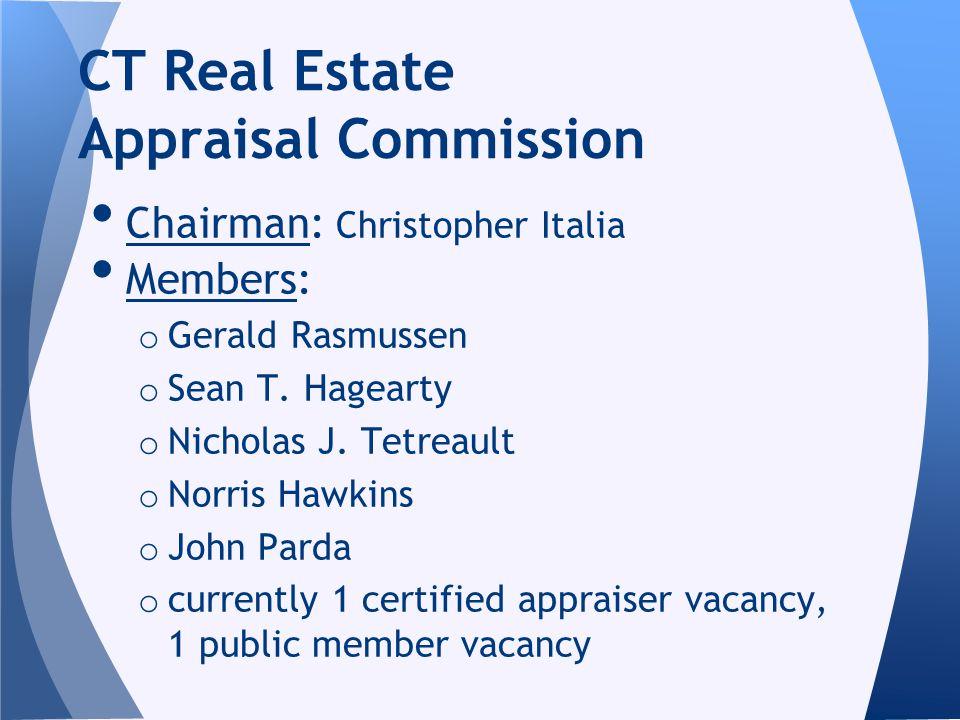Chairman: Christopher Italia Members: o Gerald Rasmussen o Sean T.