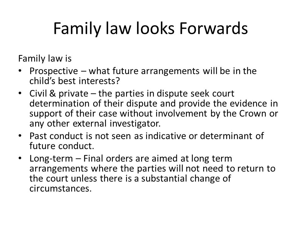 Requirement to Disclose Child Welfare Involvement New obligations on parties to inform the court about risks to the child or another child of the family: whether the child has been subject of a care order, notification or investigation under state child welfare laws.