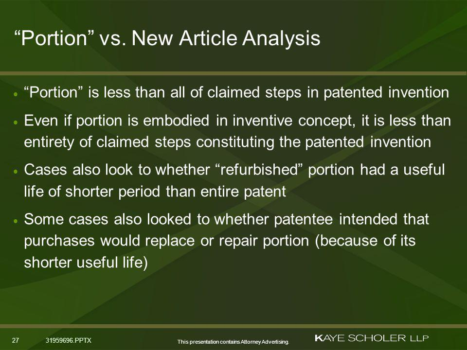 This presentation contains Attorney Advertising. 2731959696.PPTX Portion vs.