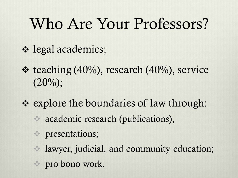 Who Are Your Professors.