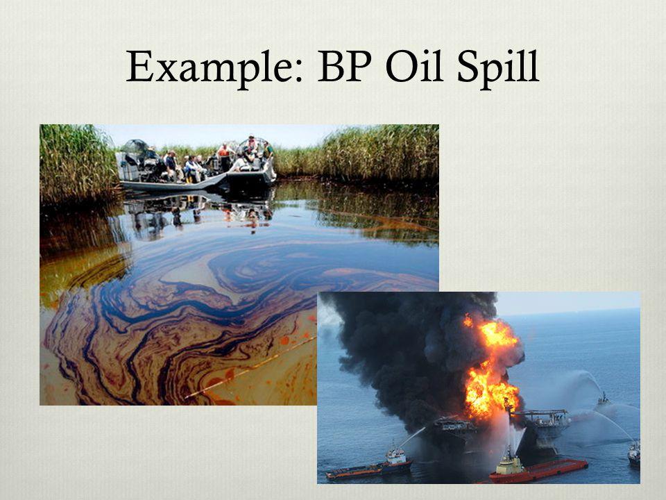 Example: BP Oil Spill