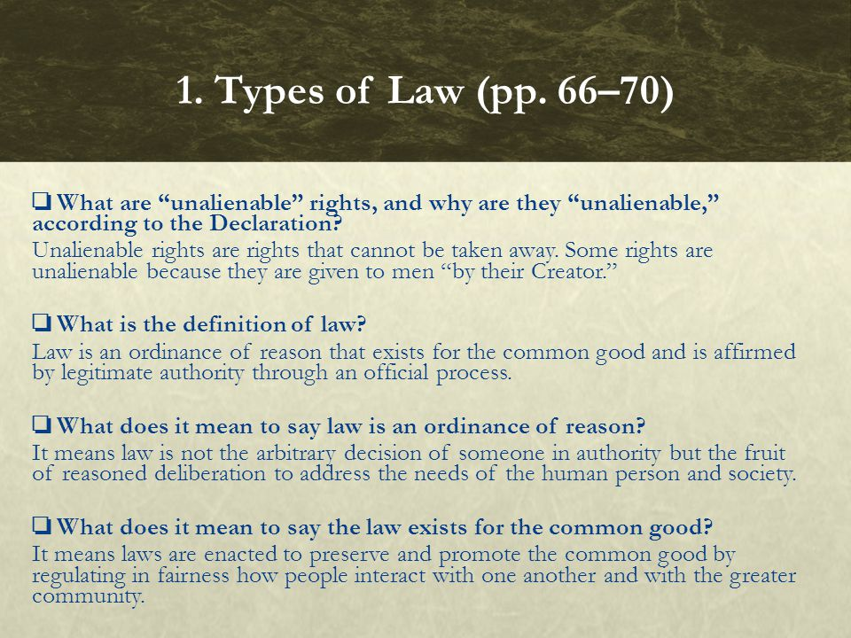 What does it mean to say law is made by legitimate authority.