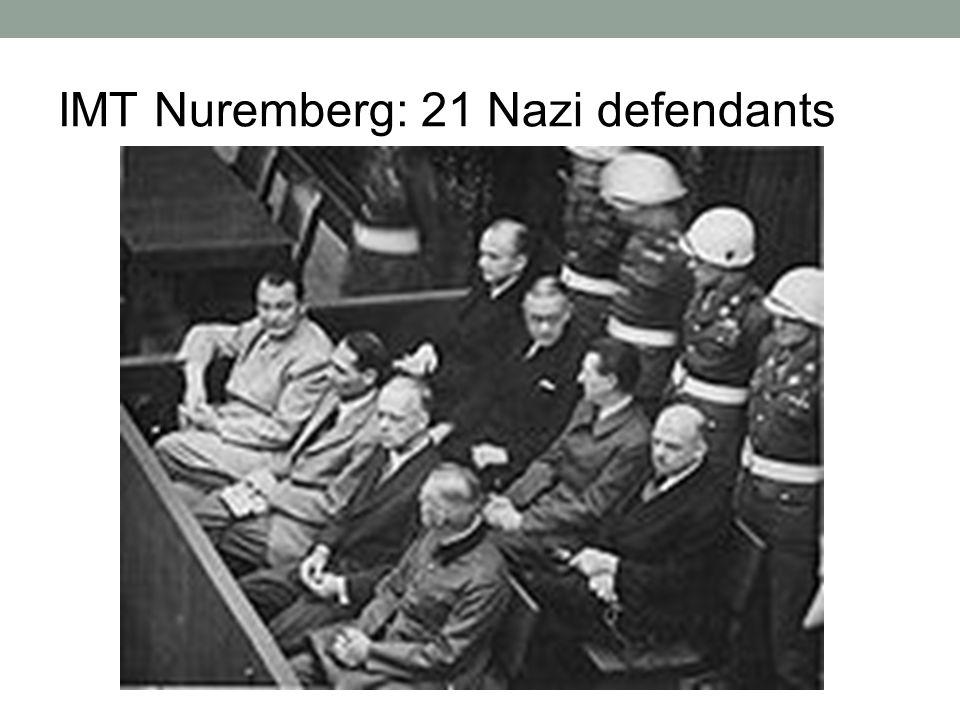 IMT Nuremberg: 21 Nazi defendants