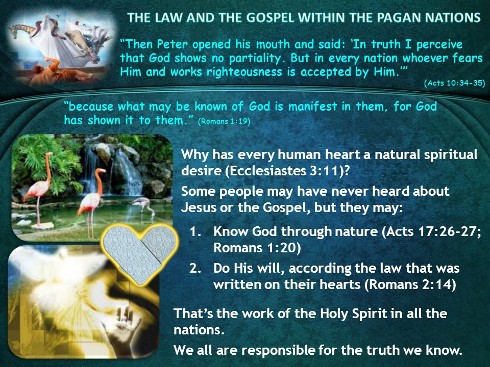 Then Peter opened his mouth and said: In truth I perceive that God shows no partiality.