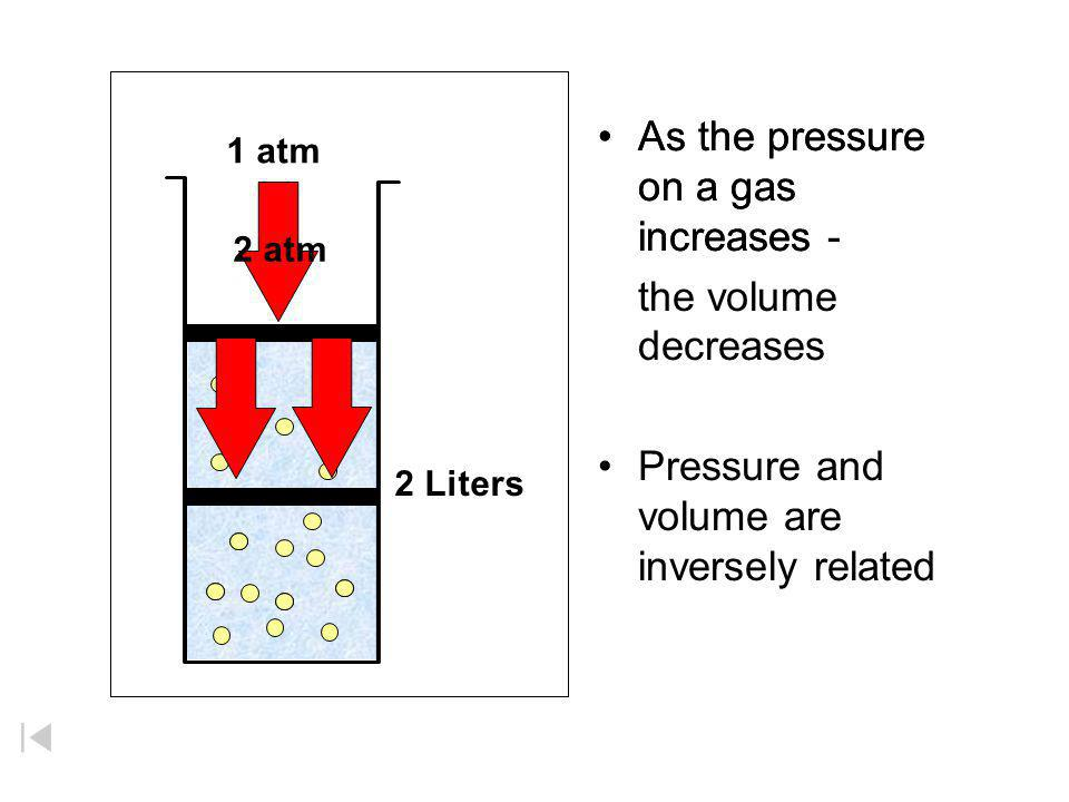 Boyle's Law If n and T are constant, then PV = (nRT) = k This means, for example, that Pressure goes up as Volume goes down. Robert Boyle (1627 - 1691