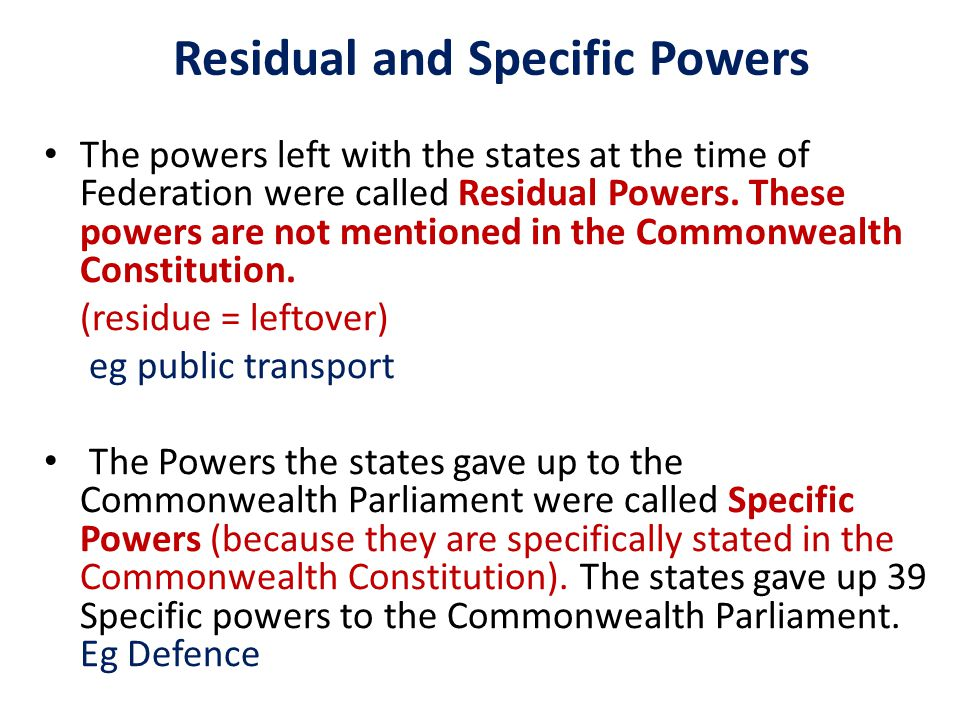 The states didnt want to relinquish (give up) all their powers to the Commonwealth Parliament.
