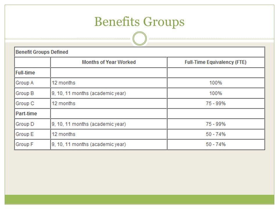 Benefits Groups